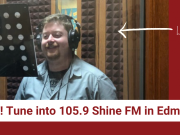 We're on the radio! Tune into 105.9 Shine FM in Edmonton to hear us!